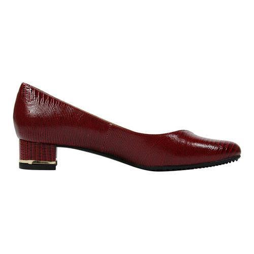f66ab5173ef Shop Women s J. Renee Bambalina Low Block Heel Pump Deep Red Lizard Print  Patent Leather - Free Shipping Today - Overstock.com - 12890647