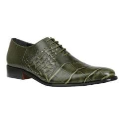 Men's Giorgio Brutini Carack Plain Toe Oxford Olive Leather