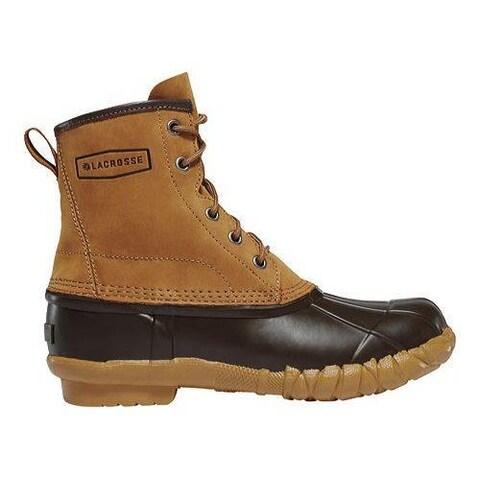 Women's LaCrosse Uplander II 6in Duck Boot Brown Full Grain Leather