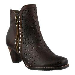 Women's L'Artiste by Spring Step Emese Bootie Dark Brown Leather