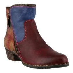Women's L'Artiste by Spring Step Erminia Bootie Bordeaux Multi Leather
