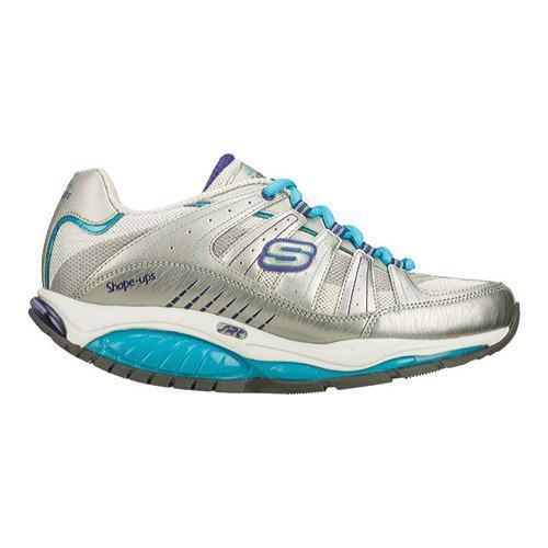 37c5b3f65816 ... Thumbnail Women  x27 s Skechers Shape Ups Kinetix Response SRT Shoe  Silver Turquoise ...