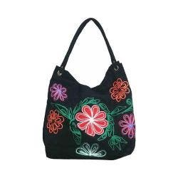 Women's Bamboo54 Hobo Embroidered Bag Black Flowers 47 https://ak1.ostkcdn.com/images/products/128/866/P19657723.jpg?impolicy=medium