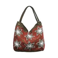 Women's Bamboo54 Hobo Embroidered Bag Brown Flowers 13 https://ak1.ostkcdn.com/images/products/128/866/P19657762.jpg?impolicy=medium