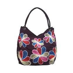 Women's Bamboo54 Hobo Embroidered Bag Dark Purple Flowers 41