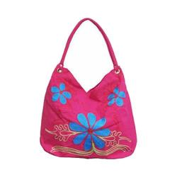Women's Bamboo54 Hobo Embroidered Bag Pink Flowers 10