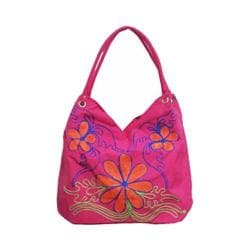 Women's Bamboo54 Hobo Embroidered Bag Pink Flowers 9