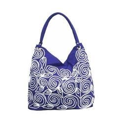 Women's Bamboo54 Hobo Embroidered Bag Purple Spirals 51 https://ak1.ostkcdn.com/images/products/128/866/P19657781.jpg?impolicy=medium