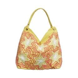 Women's Bamboo54 Hobo Embroidered Bag Yellow Flowers 15