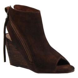 Women's Diba True In Between Open Toe Bootie Chestnut Suede