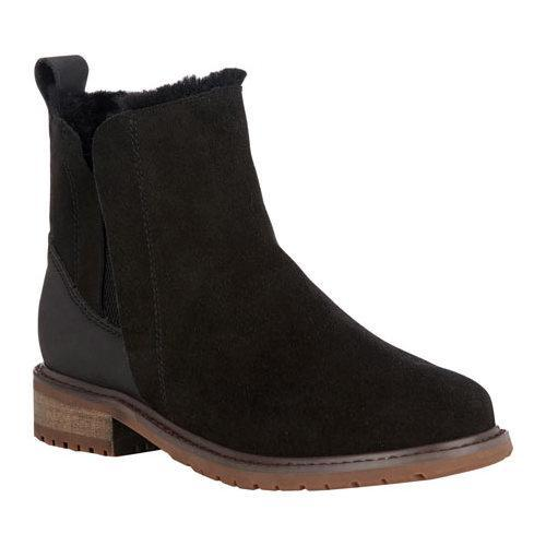 Women's EMU Pioneer Chelsea Boot Black Waterproof Suede