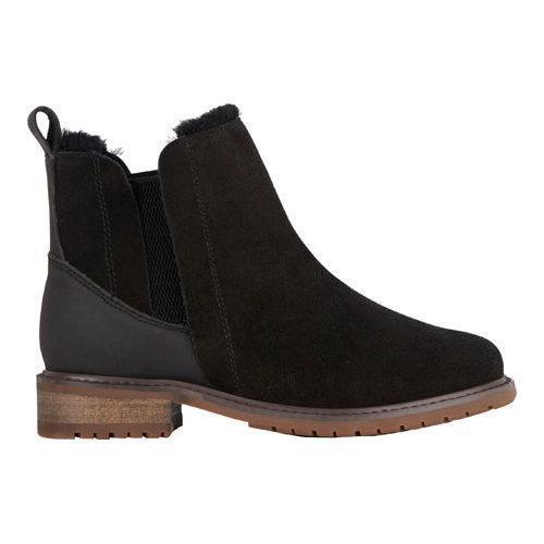 Women's EMU Pioneer Chelsea Boot Black Waterproof Suede - Thumbnail 1