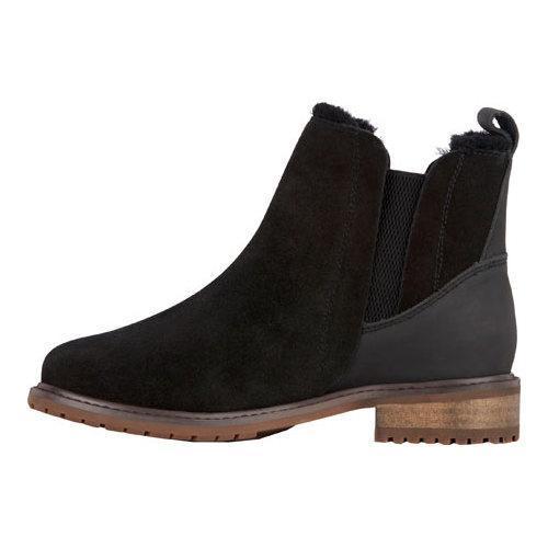 Women's EMU Pioneer Chelsea Boot Black Waterproof Suede - Thumbnail 2
