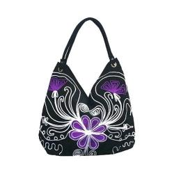 Women's Bamboo54 Hobo Embroidered Bag Black Flowers 36