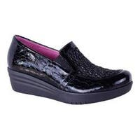 Women's Helle Comfort Laima Loafer Black Leather