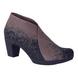 Women's Helle Comfort Vera Mid Heel Bootie Black Microfiber