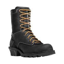 Men's Danner Danner Logger 8in Boot Black Oiled Nubuck Leather