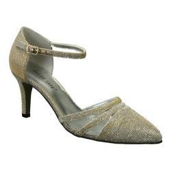 Women's David Tate Ava Ankle Strap Gold Glitz