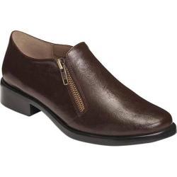 Women's A2 by Aerosoles Lavish Plain Toe Shoe Brown Faux Leather