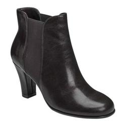 Women's A2 by Aerosoles Strole Along Ankle Boot Black Faux Leather