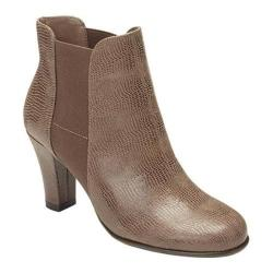 Women's A2 by Aerosoles Strole Along Ankle Boot Taupe Snake Faux Leather