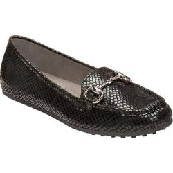 Women's Aerosoles Drive Through Driving Moc Black Snake