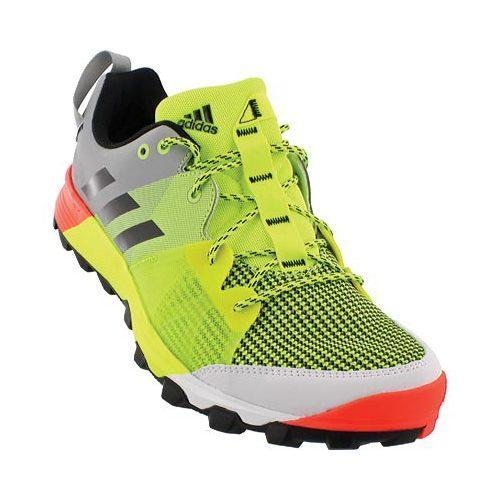 negozio uomini è adidas kanadia 8 tracce scarpa da corsa, solar giallo / nero
