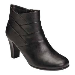 Women's A2 by Aerosoles Best Role Bootie Black Faux Leather