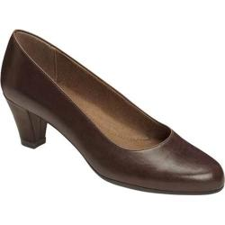 Women's A2 by Aerosoles Redwood2 Pump Brown Faux Leather