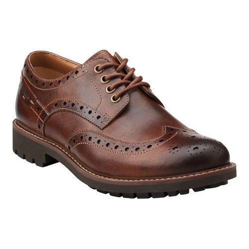 123356b9c2d7f Shop Men s Clarks Montacute Wing Dark Tan Leather - Free Shipping ...