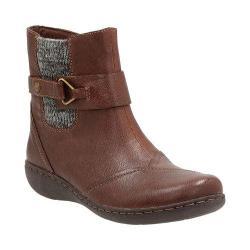 Women's Clarks Fianna Adley Ankle Boot Brown Goat Corrected Full Grain Leather