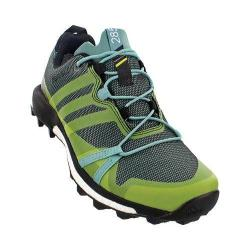 Women's adidas Terrex Agravic GORE-TEX Trail Running Shoe Vapour Steel/Shock Slime/Black
