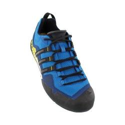 Men's adidas Terrex Swift Solo Hiking Shoe Unity Blue/Black/Unity Lime
