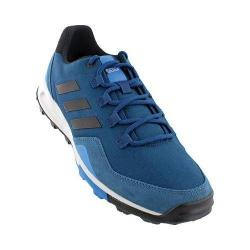 Men's adidas Tivid Mid Low Hiking Shoe Tech Steel/Black/Shock Blue