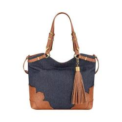 Women's Nine West Dobra Tote Indigo/New Saddle