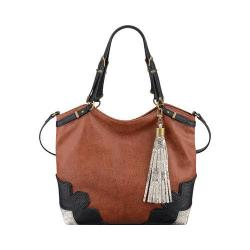 Women's Nine West Dobra Tote New Saddle/Black/Natural Multi