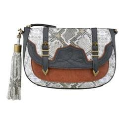 Women's Nine West Evelina Crossbody MD Natural Multi/Black/New Saddle