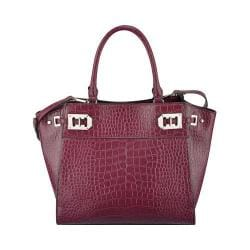 Women's Nine West Gleam Team Satchel Crimson