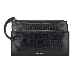 Women's Nine West Pretty Little Things Tri Zip Wristlet MZ Black