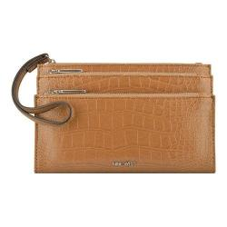 Women's Nine West Pretty Little Things Tri Zip Wristlet MZ Dark Camel
