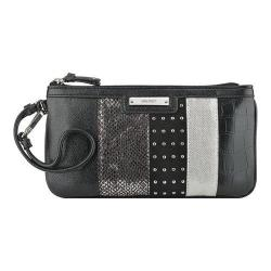 Women's Nine West Pretty Little Things Wristlet EW Black/Silver/Black