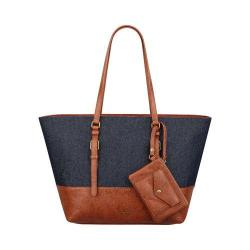 Women's Nine West Syne Tote LG Indigo/New Saddle