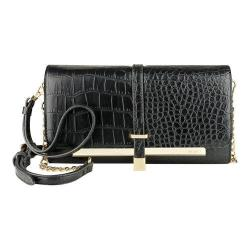 Women's Nine West Table Treasures Deluxe Flap X-Body LG Black