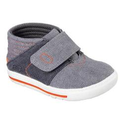 Boys' Skechers Lil Lad High Top Charcoal/Orange