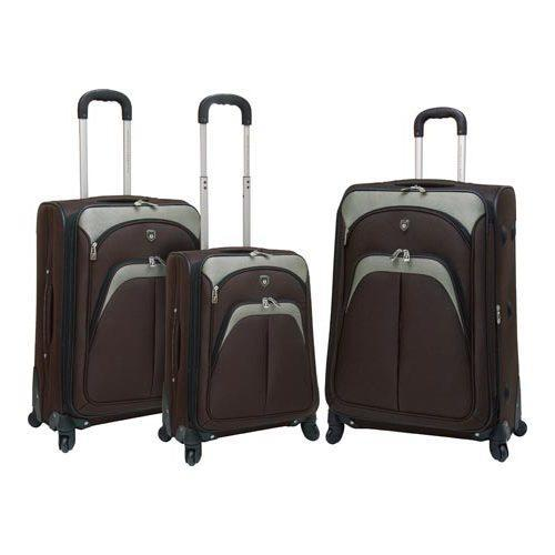 Travelers Club Lexington 3 Piece Expandable Luggage Set M...