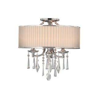 Golden Lighting Echelon #8981-SF BRI Semi-flush Convertible Lamp