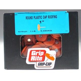 """Grip Rite 3PRCAP1 1.150 Lb 3"""" Electro Galvanized Round Plastic Grip-Cap Nail"""