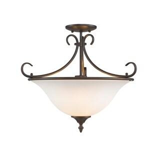 Golden Lighting #8606-SF RBZ-OP Homestead Semi-flush Convertible Light Fixture