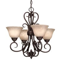 Golden Lighting's Homestead #8606-GM4 RBZ-TEA 4-light Mini Chandelier