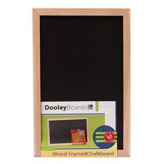 "Dooley Boards 1218CH 11"" X 17"" Wood Framed Chalkboard"